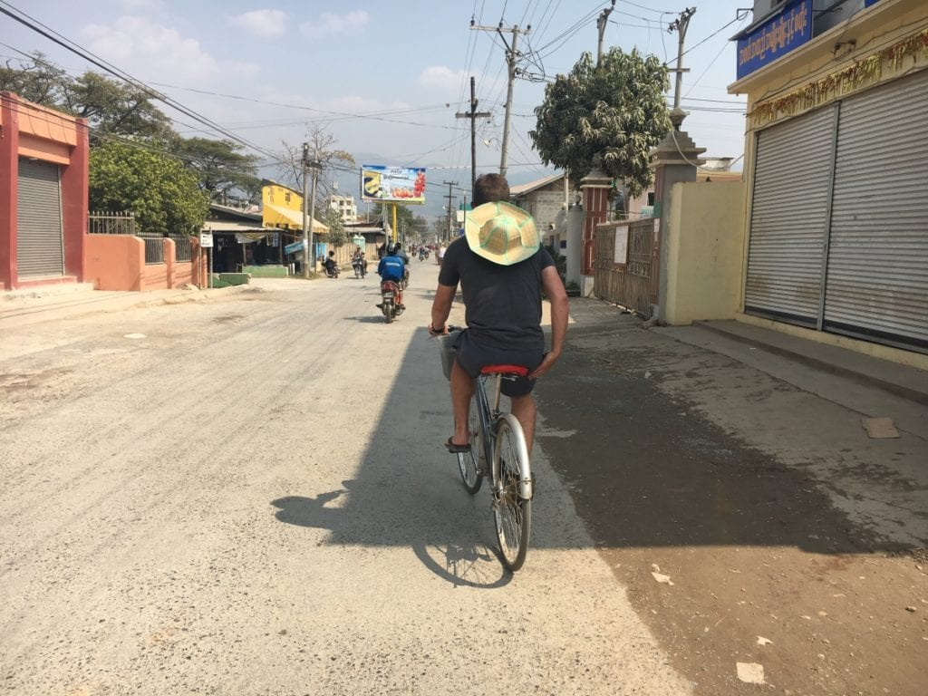 Biking around Nyaung Shwe