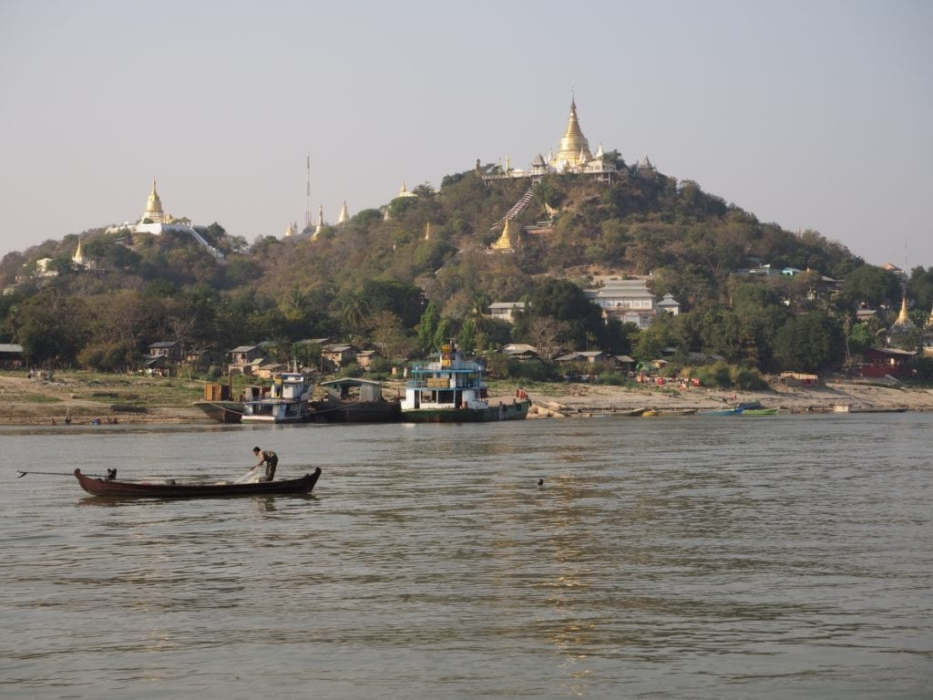 Views of Mandalay from the Irrawaddy River