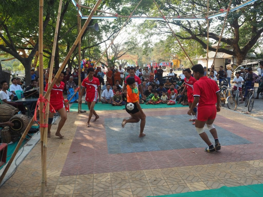 A Game of Chinlone in Mandalay