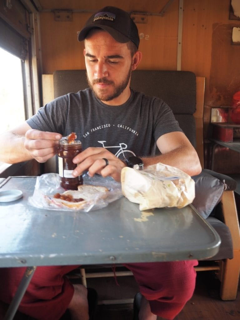 Snacks on the Train from Yangon to Bagan