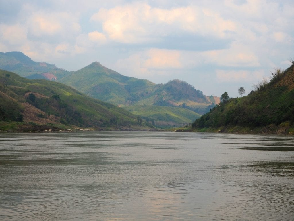 Rural, beautiful Laos from the Mekong