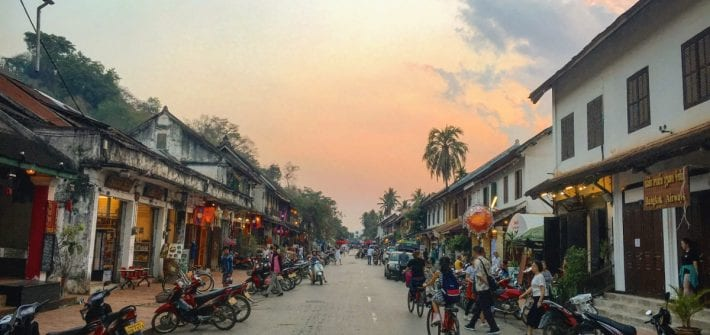The old quarter of Luang Prabang
