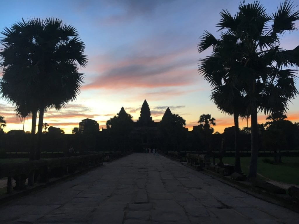 Walkway towards Angkor Wat