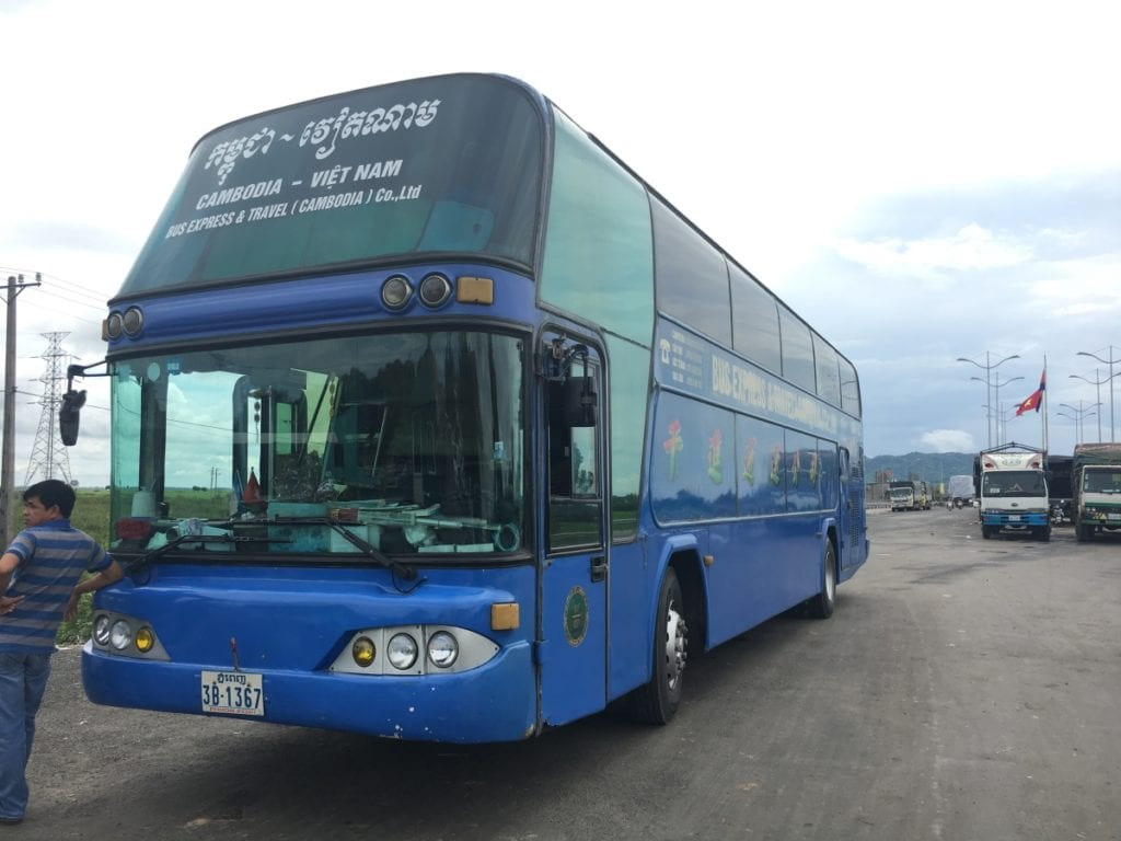 Vietnam bus that takes you to the Border Crossing Check Point