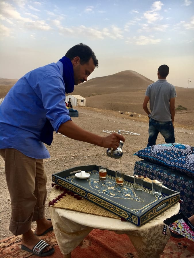 Mint Tea in the desert