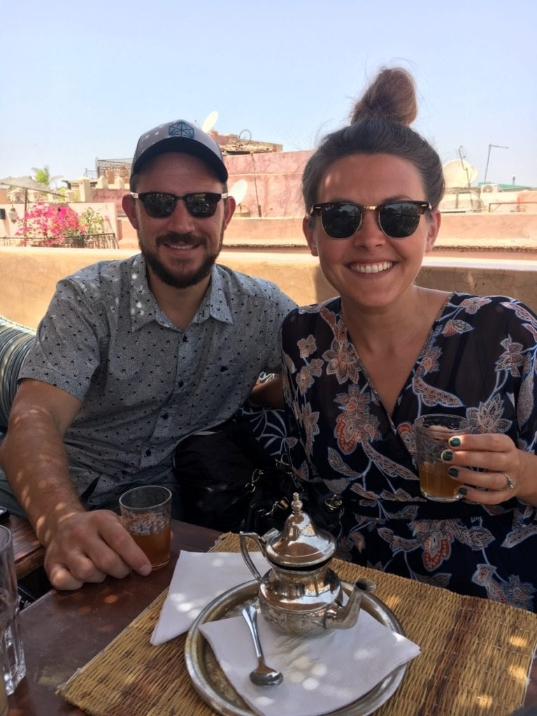 Mint Tea on Moroccan Rooftop