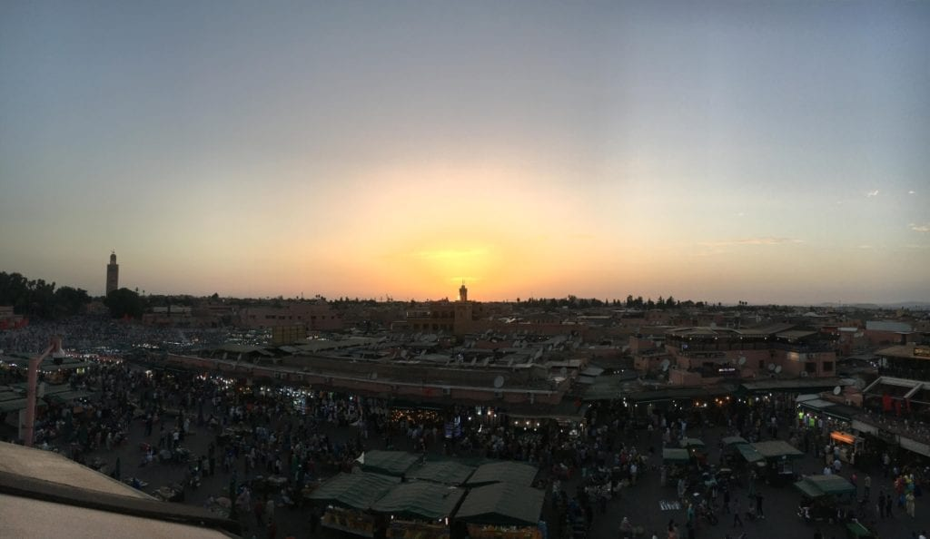 Sunset at Jemaa el-Fna Square