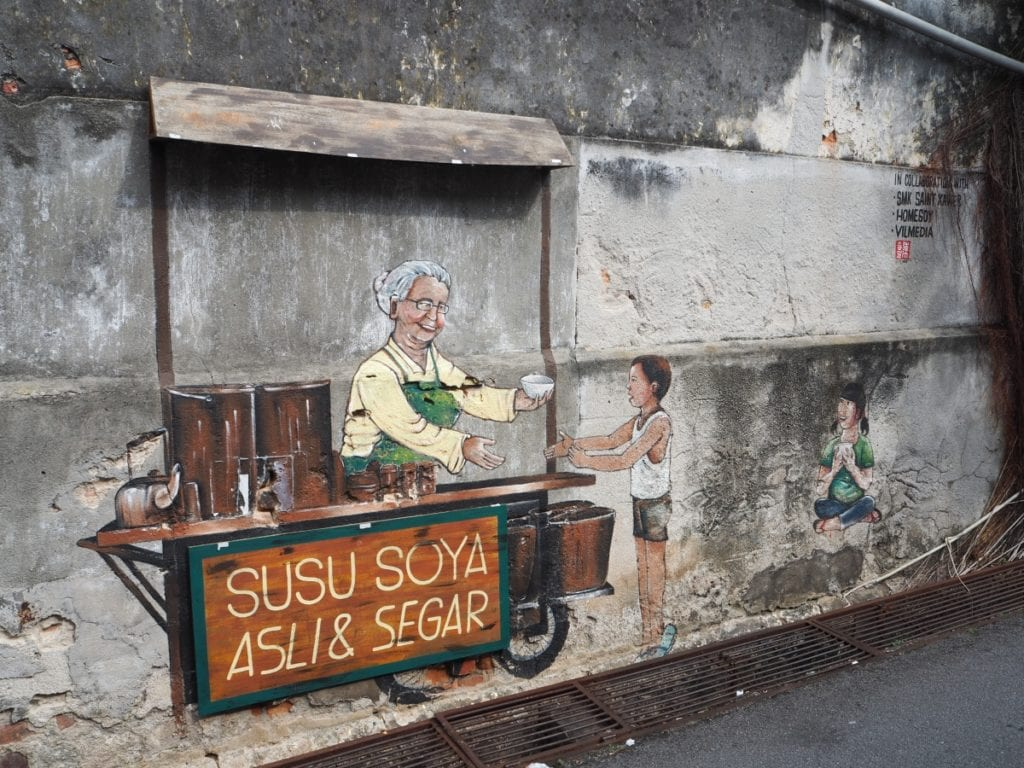 Soy Milk Seller Street Art Murals Not to Miss in Georgetown, Penang