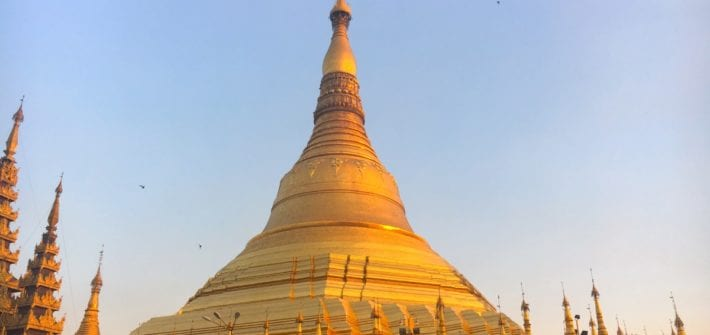 Shwedagon Pagoda at Sunset