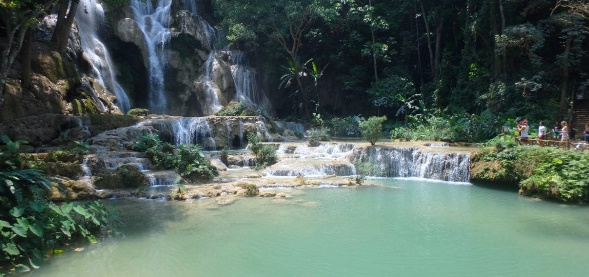 Laos waterfalls in Luang Prabang