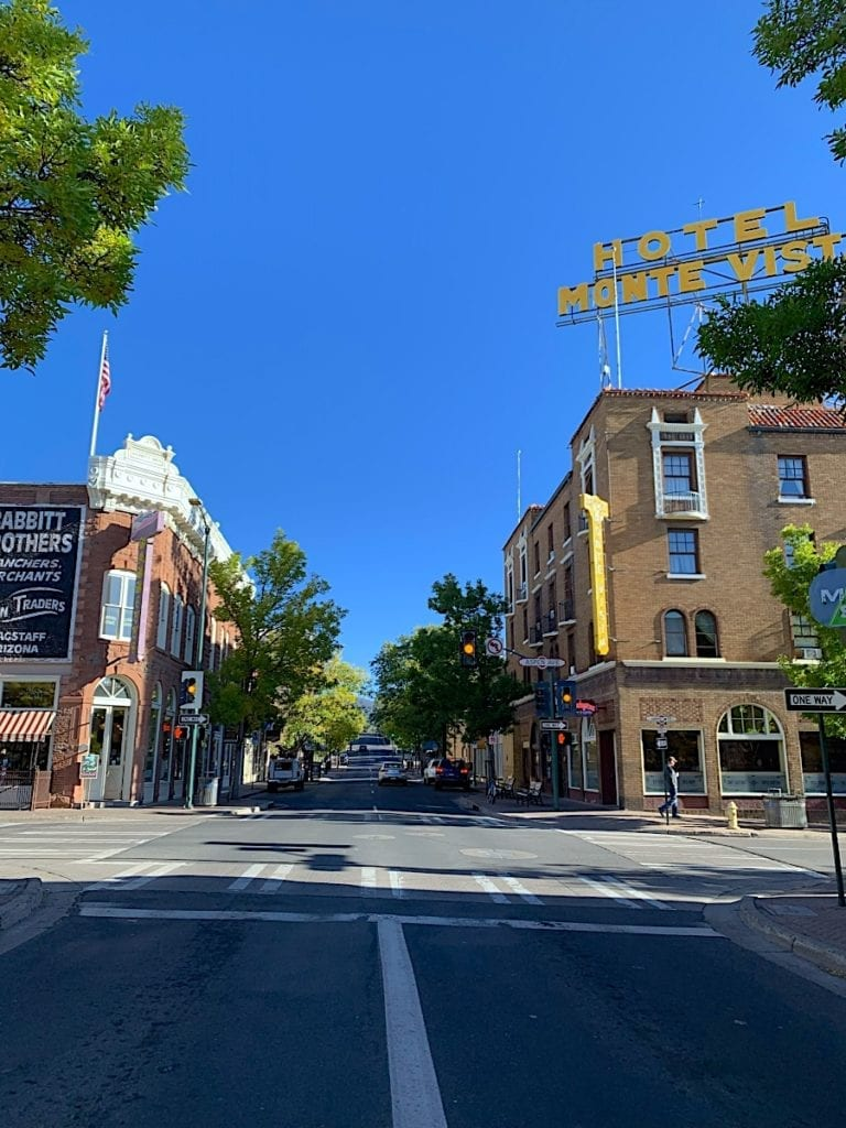Street View of Downtown Flagstaff Arizona