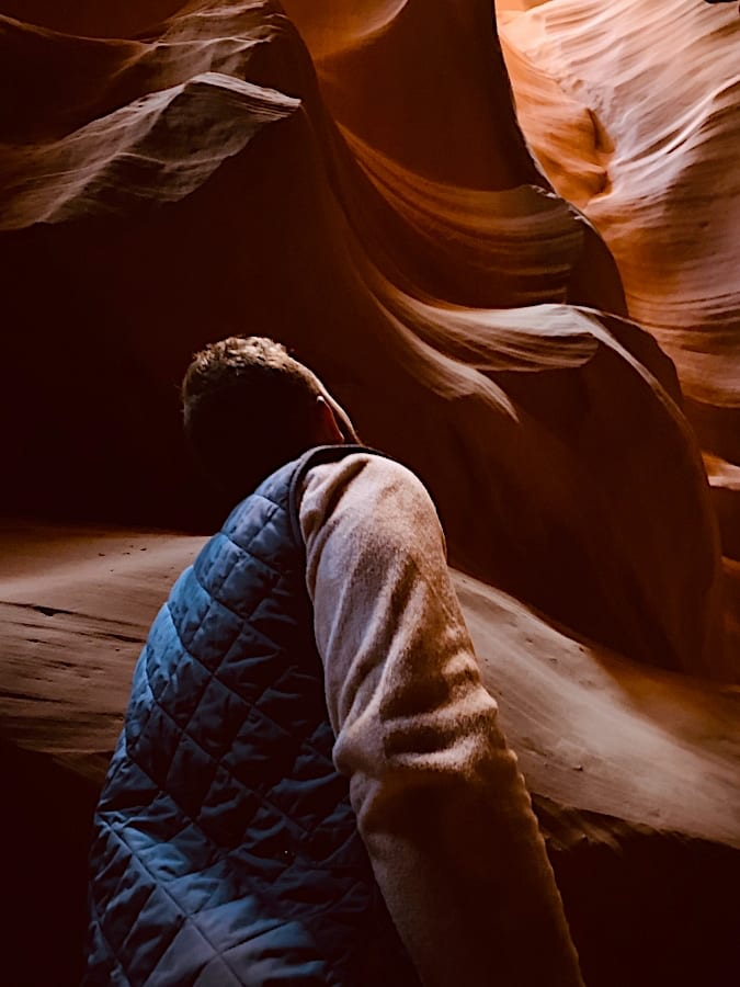 Man Viewing Antelope Canyon