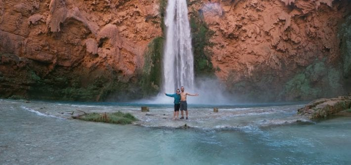 At the base of Mooney Falls