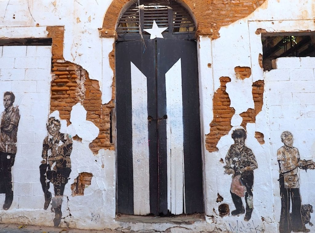 Old San Juan Flag Door