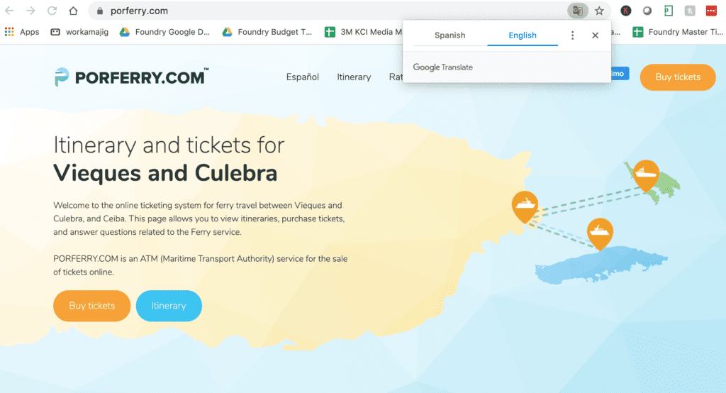 Culebra Ferry Ticket Site