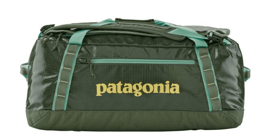 sustainable gift ideas - Patagonia black hole duffle