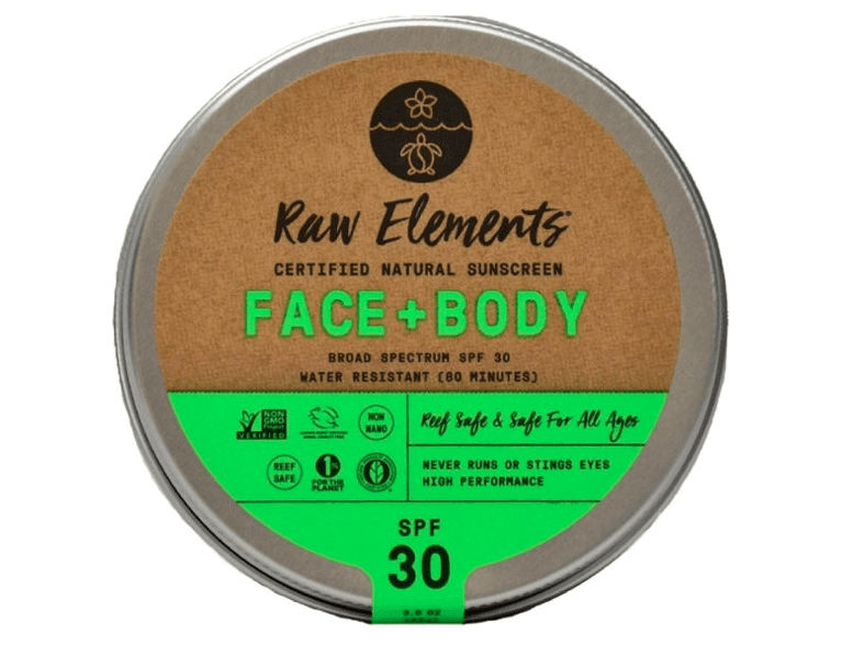 sustainable gift ideas - raw elements reef safe sunscreen
