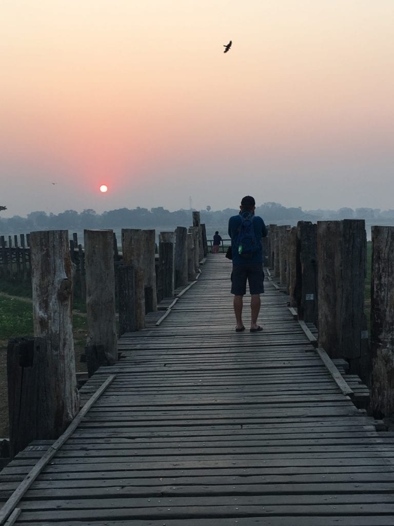 ubein bridge at sunrise