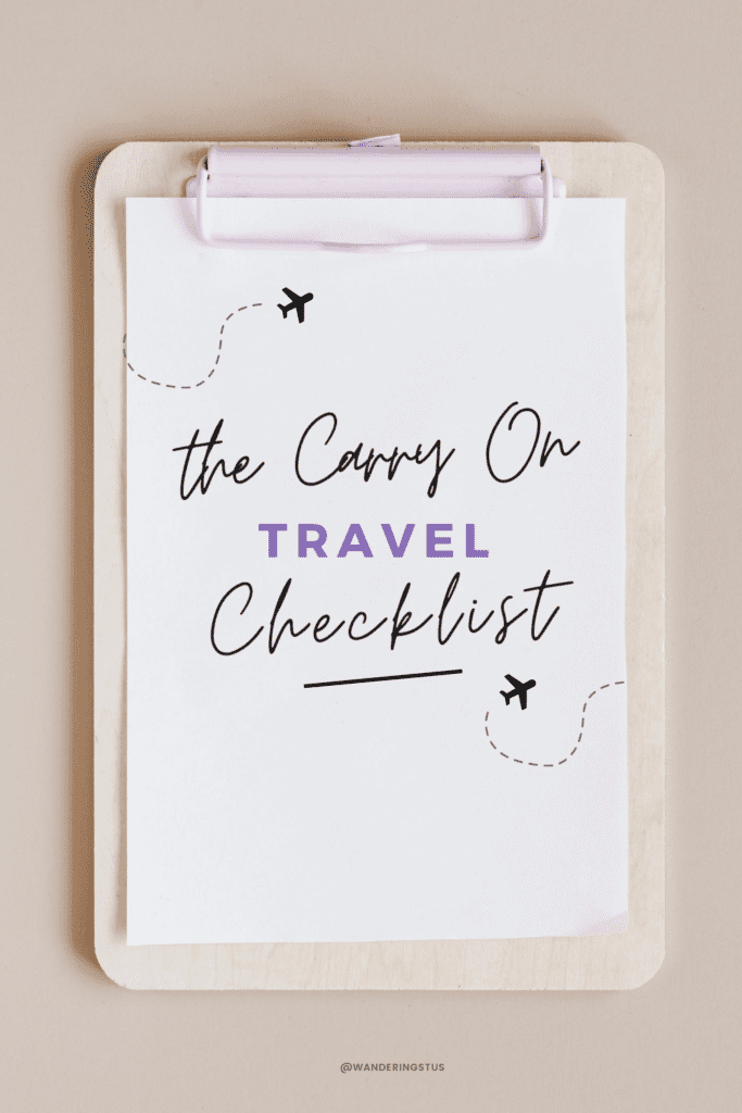 Carry On Travel Checklist
