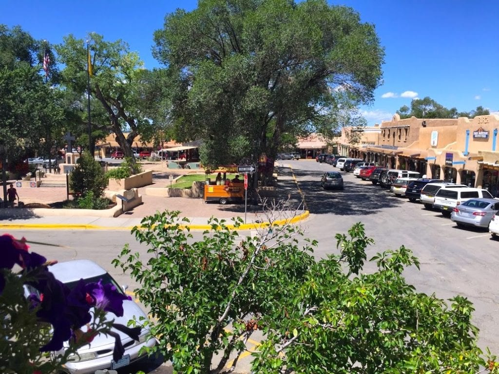 View of Historic Taos Plaza