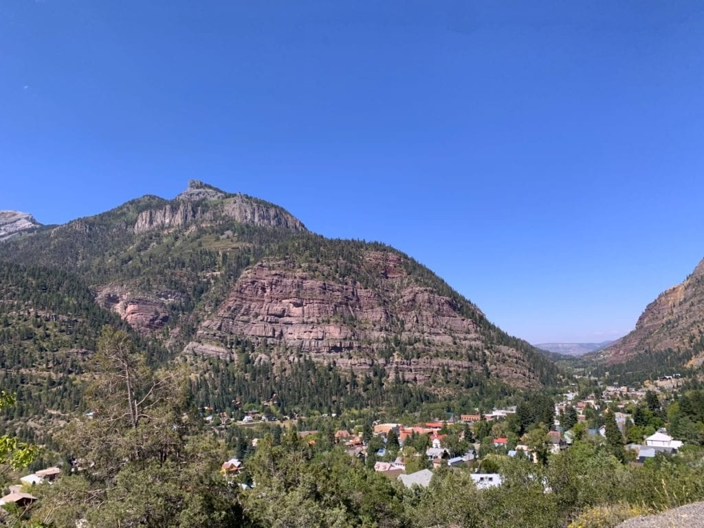 Overview of the town of Ouray