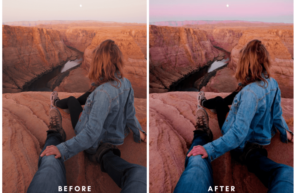 Before and After Wandering Stus Presets