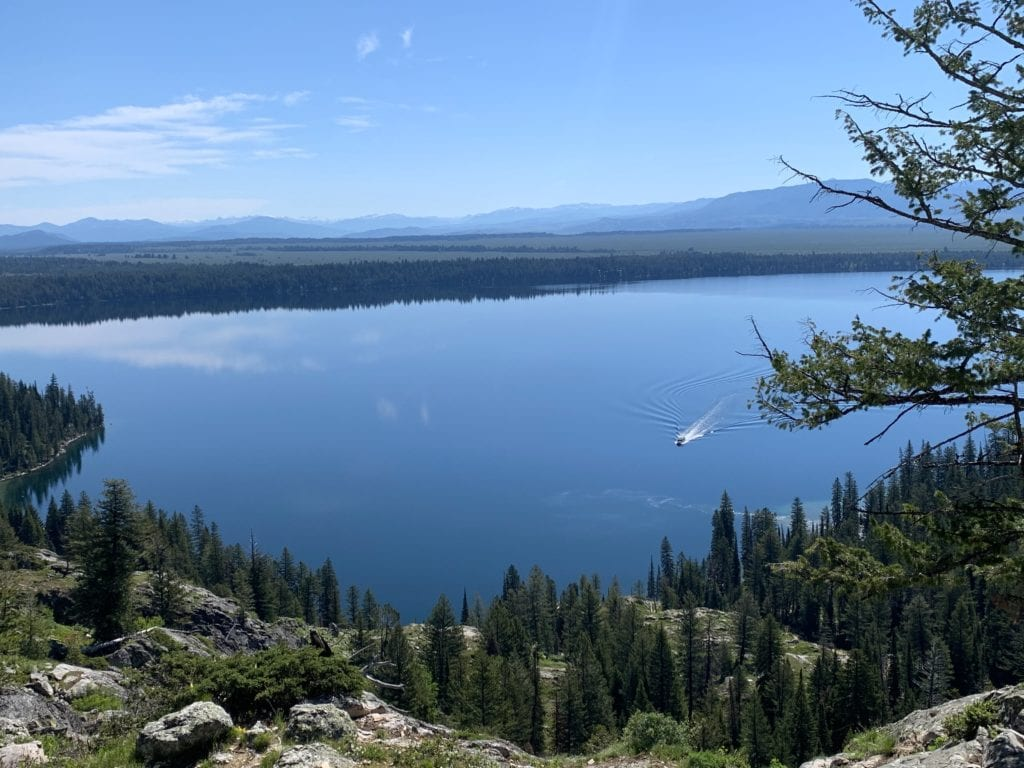View from Inspiration Point at Jenny Lake