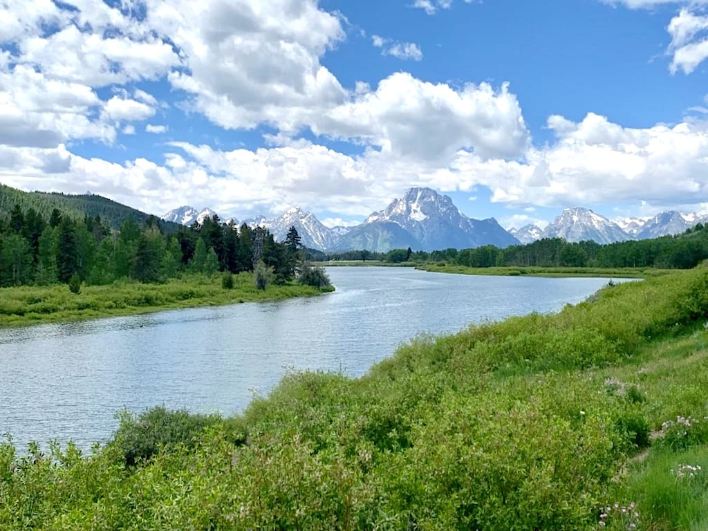 Views of the Tetons from Oxbow Bend