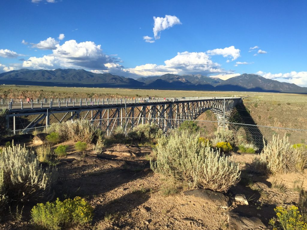 Views from the West Rim trail in Taos